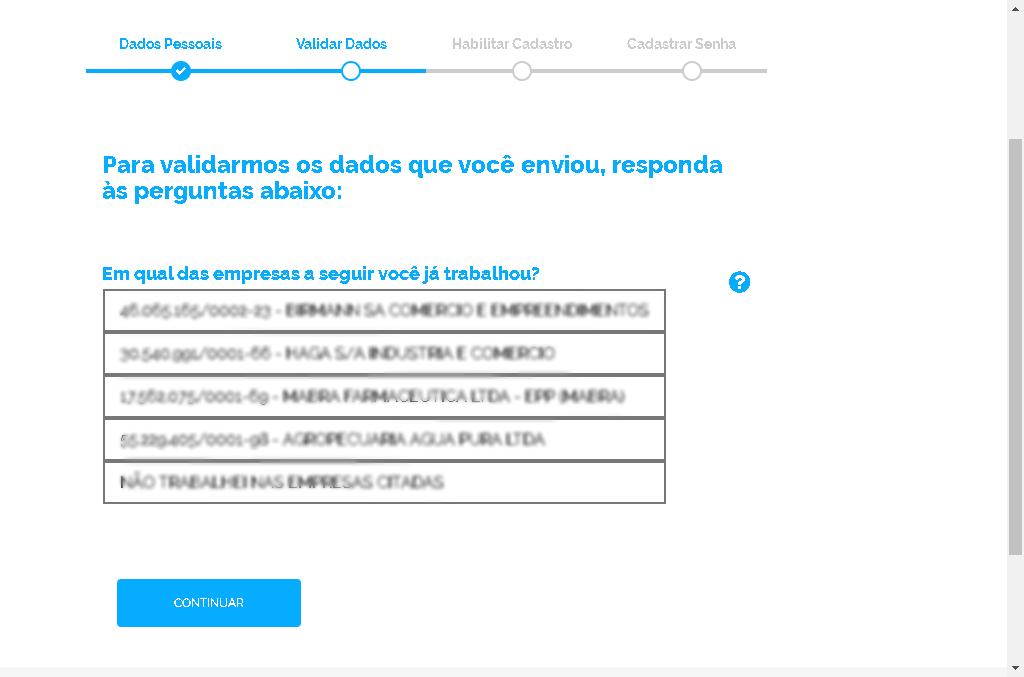 Questionário Meu INSS